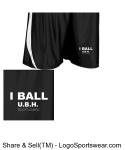 Adult Downtown Basketball Short Design Zoom